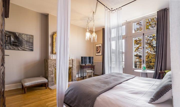 Maison d'hôtes L'Autre Rives - Chambre Baroque