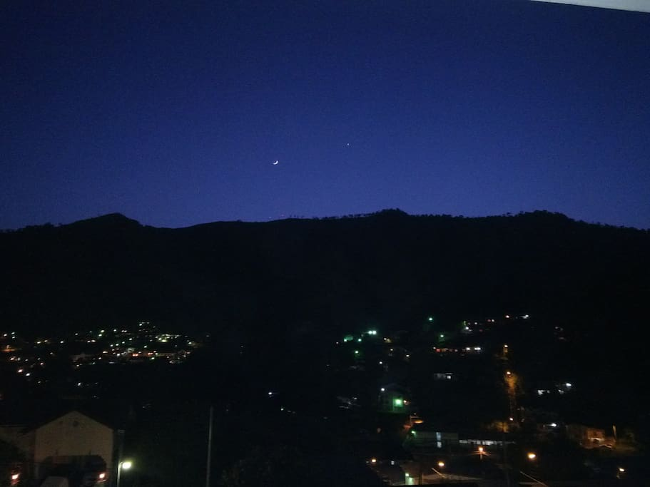 Night view across the Maraval Valley ...from the balcony!