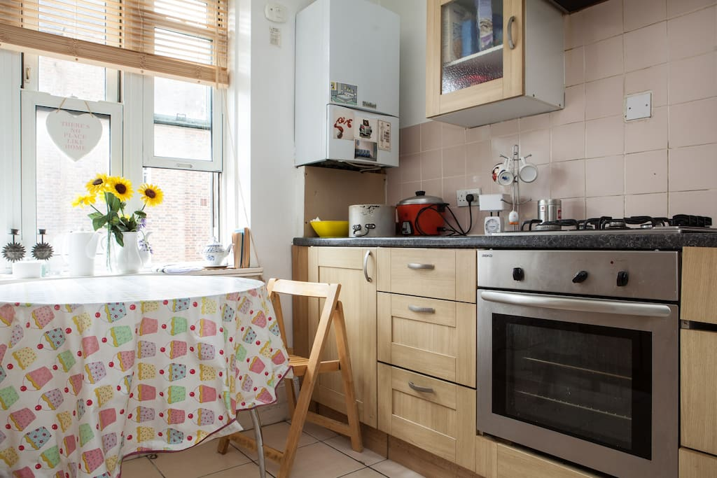 Shared clean and equipped kitchen