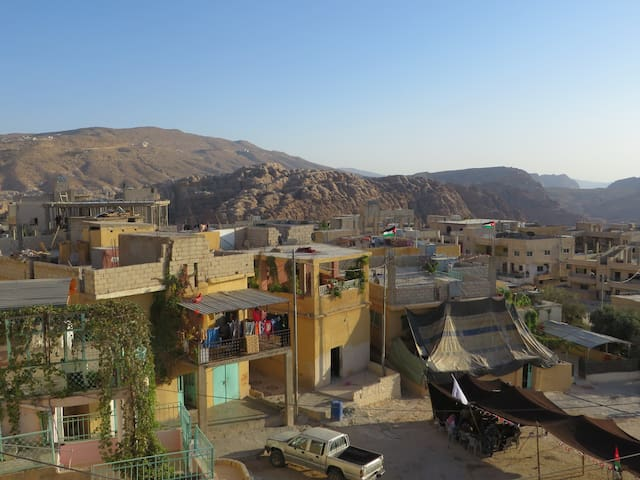 Bedouin home, panoramic view, Petra (private room)