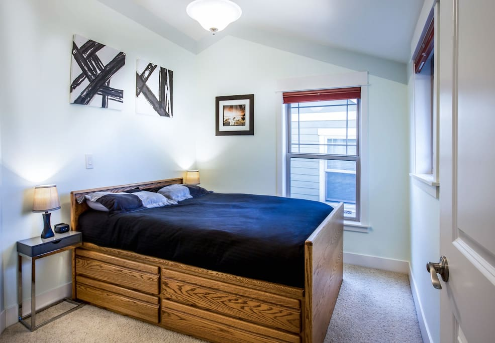 Second bedroom, includes full size bed, and a California closet.