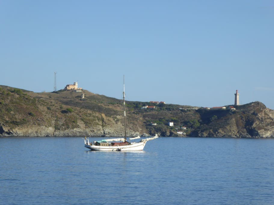 vue depuis la façade côté mer