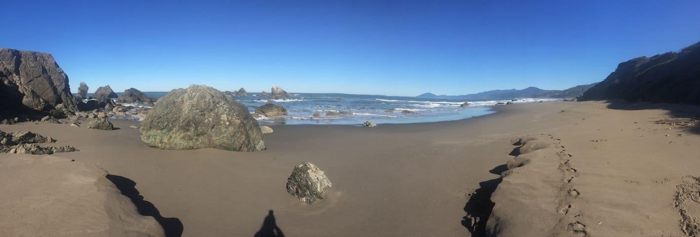 Sunny (or Stormy!) Nesika Beach - beach access