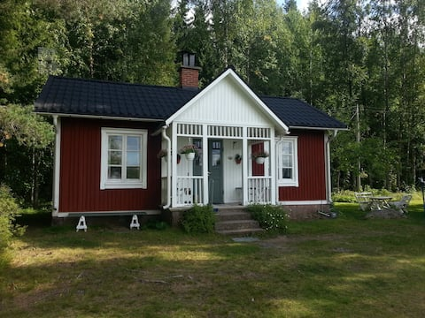 Typical Swedish cottage in the countryside