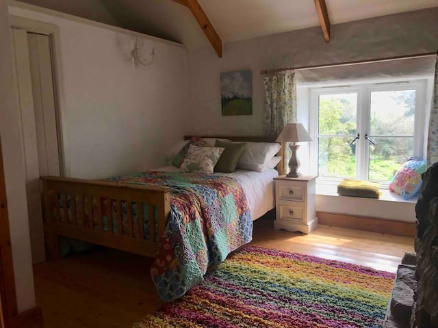 The second bedroom with small double bed
