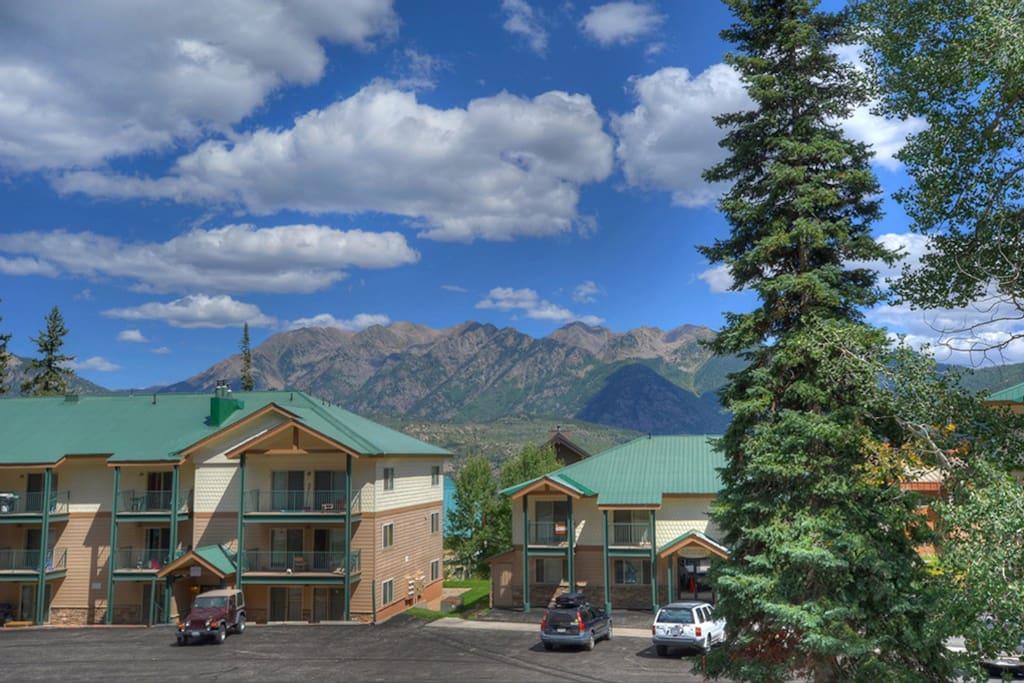Durango Colorado vacation rental ski condo at Purgatory Resort mountain view