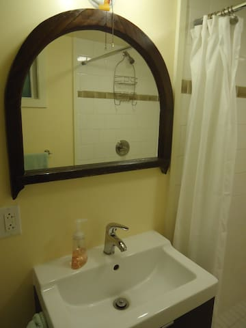 Antique window remade as a mirror
