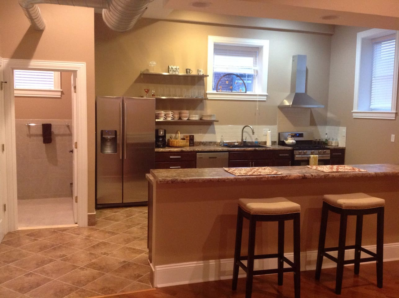 Enjoy the open layout of the 1st floor while you're at the kitchen counter