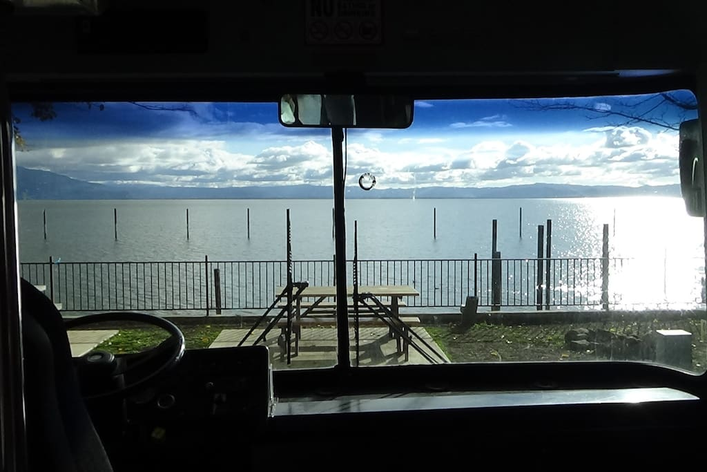 And this is the same view from inside the vehicle.