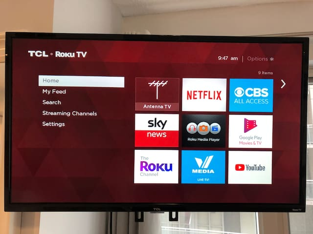 Smart TV with an active Netflix subscription and Cable (through V-Media App)