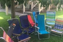 Beach chairs for your use