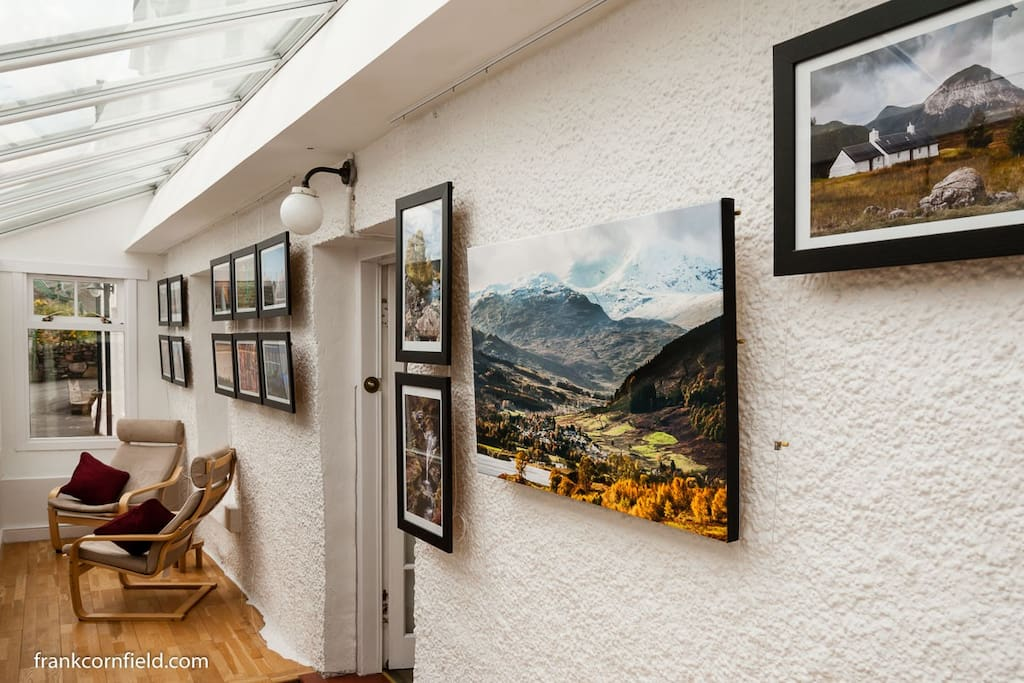 Gallery in porch of Lochleven.