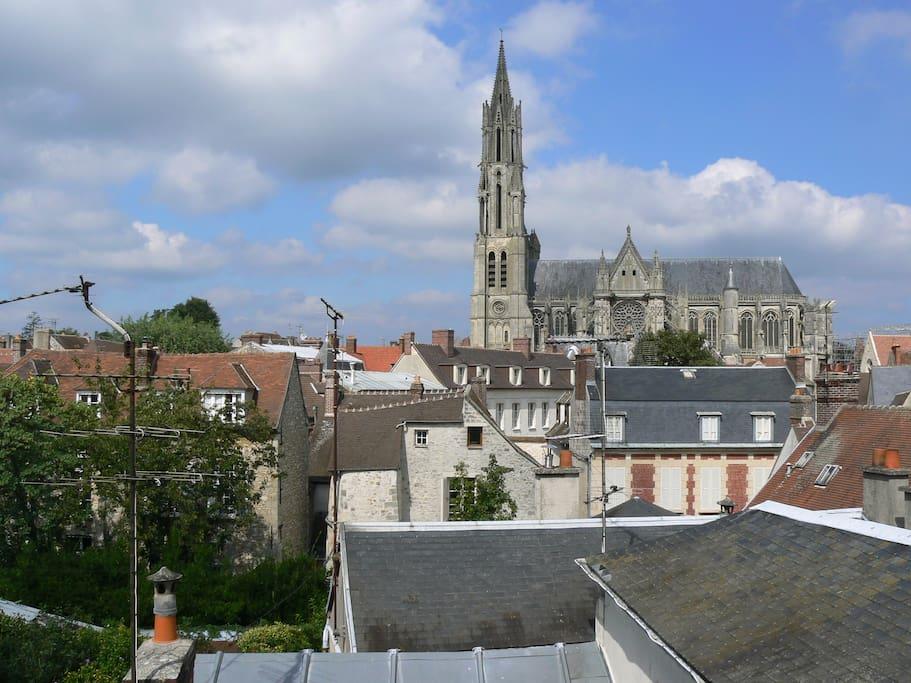 Une vue magnifique sur la ville médiévale
