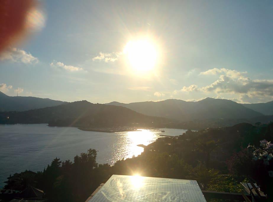 Sunset over Rapallo