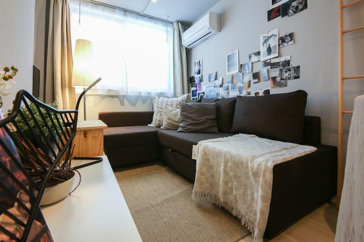 5~7min Ginza Shinbashi Sta★f/WiFi★1BR 4Beds 6guest - Minato-ku - Apartment