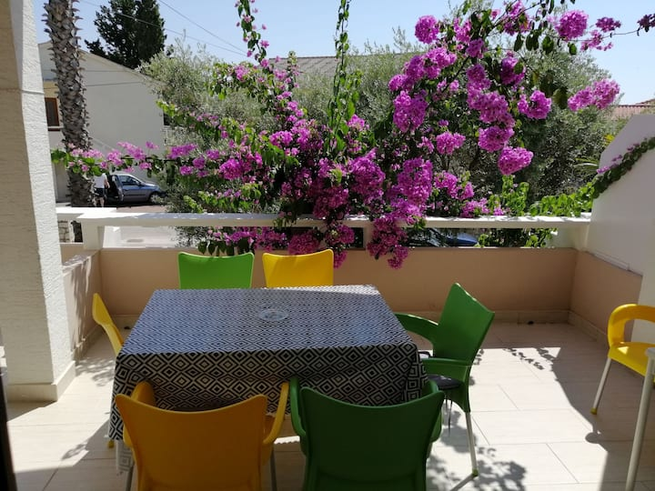 Branka two bedroom apartment with big balcony, Novalja