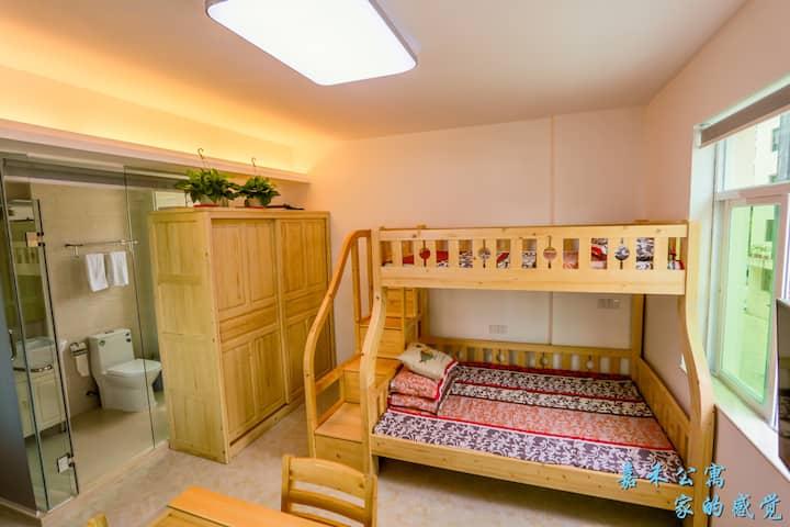 三亚大东海嘉禾公寓温馨家庭房
