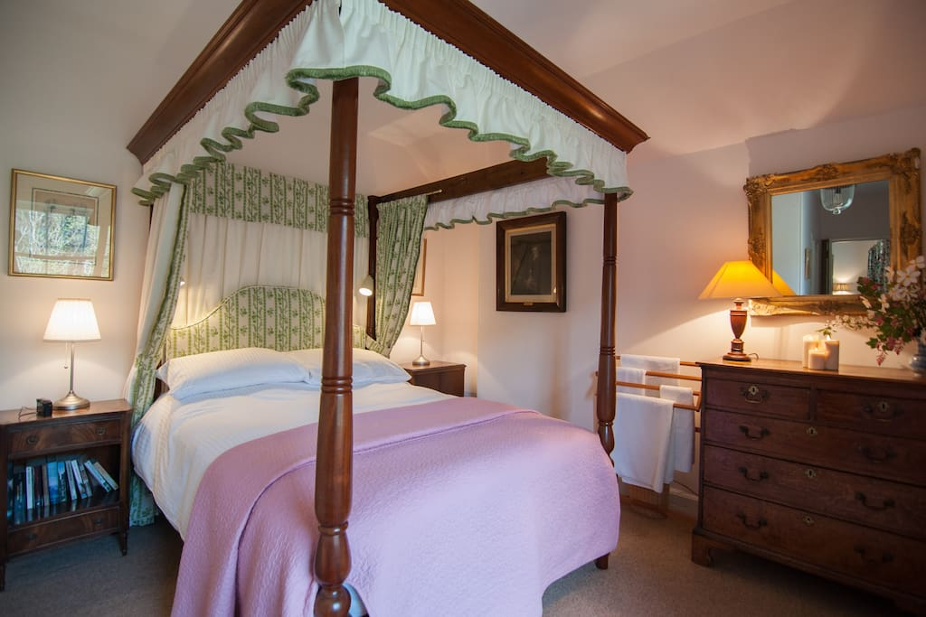 Luxury Four Poster bed.