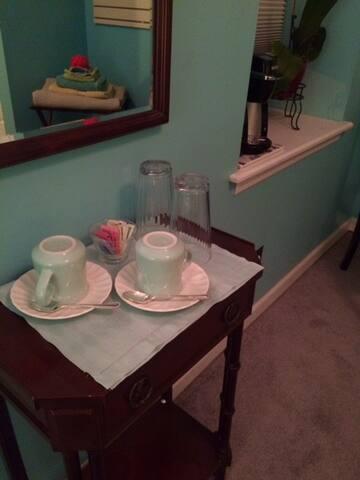In-room coffee or tea
