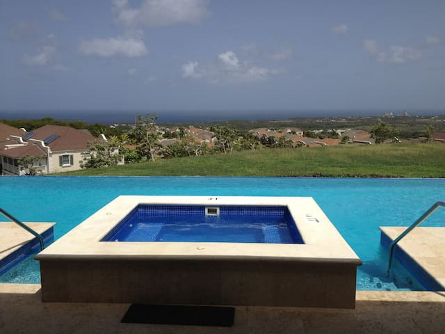 The jacuzzi and clubhouse pool