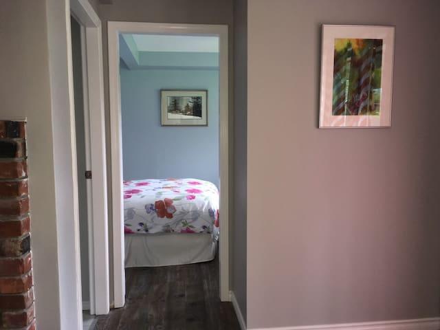 peek into the bedroom