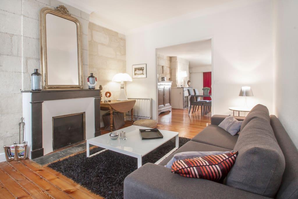 Appartement de charme 55m2 bordeaux appartements louer for Louer bordeaux appartement