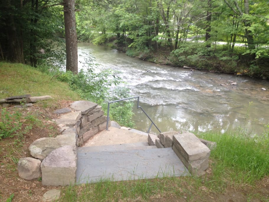 You can see our beautiful rushing stream from your studio!