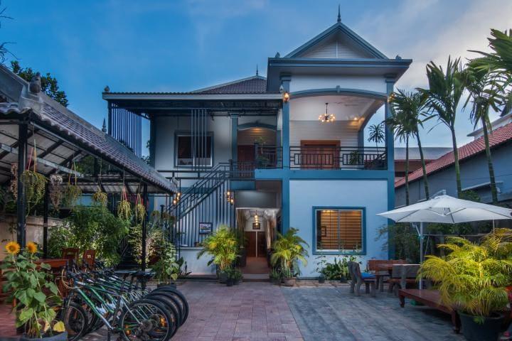 First floor villa with 3 rooms in Krong Siem Reap.