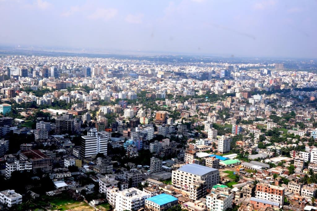 Dhaka City from roof top