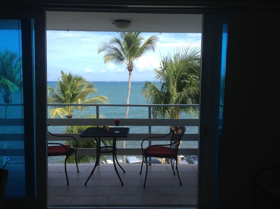 View of the ocean from the apartment