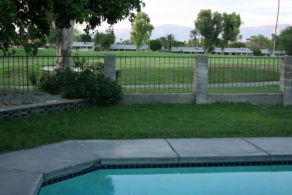 Golf-course and private pool