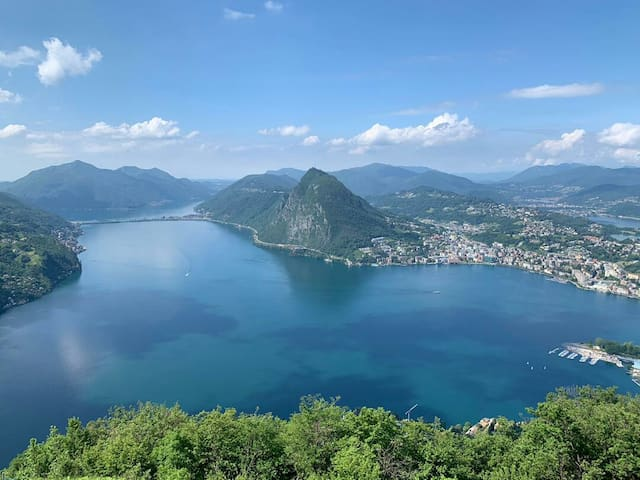 Mount Bre over Lugano. Picture taken from an enthusiastic guest