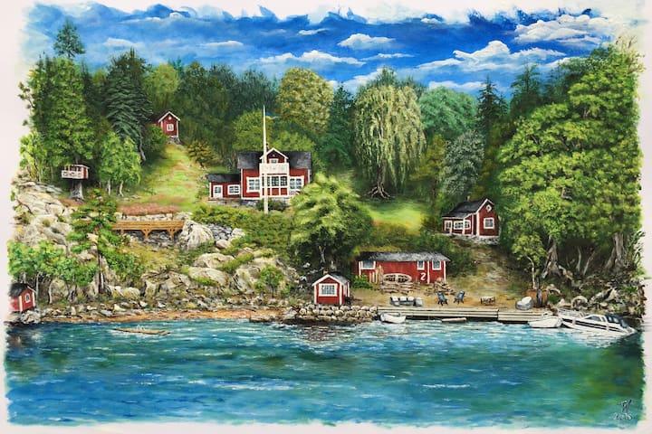 "Seafront cottage - ""Utsikten"" - Vaxholm - Casa"