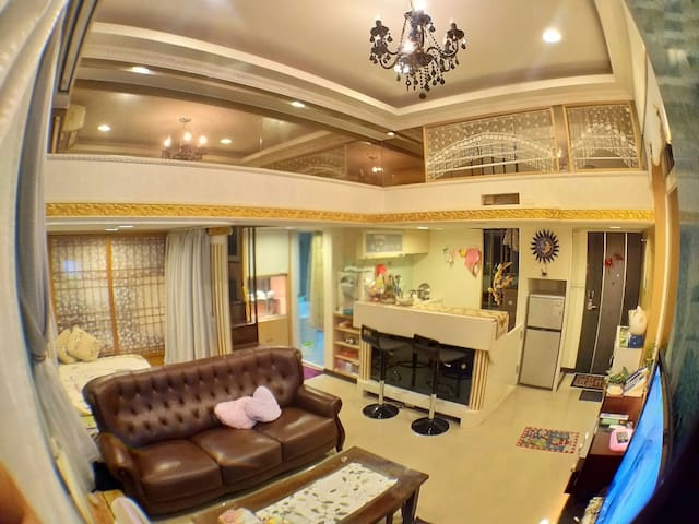 在大台北絕對豪華舒適的經濟雙人冷氣房間 (近景安、南勢角捷運站)