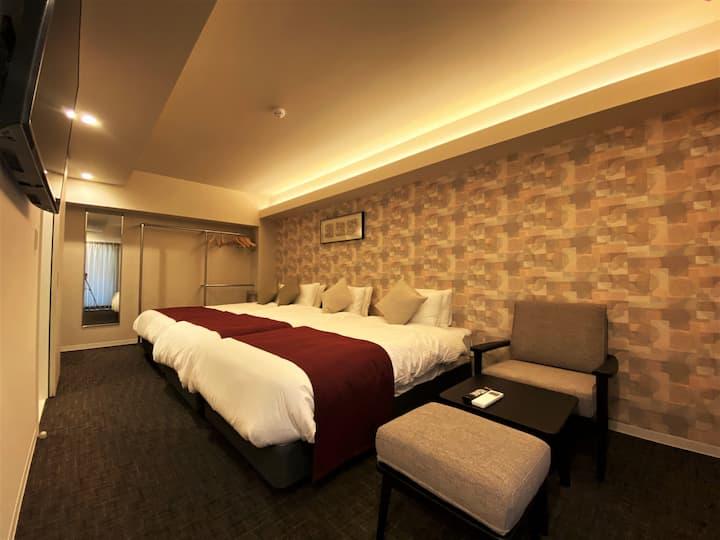 2020年3月新築OPEN!博多・天神へのアクセス良好の低層階アパートメントホテル[礼]