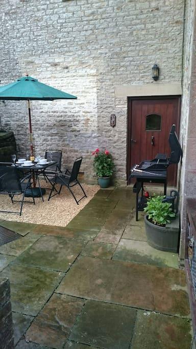 Your private patio garden.