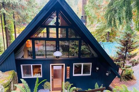Modern Riverfront A-Frame Cabin