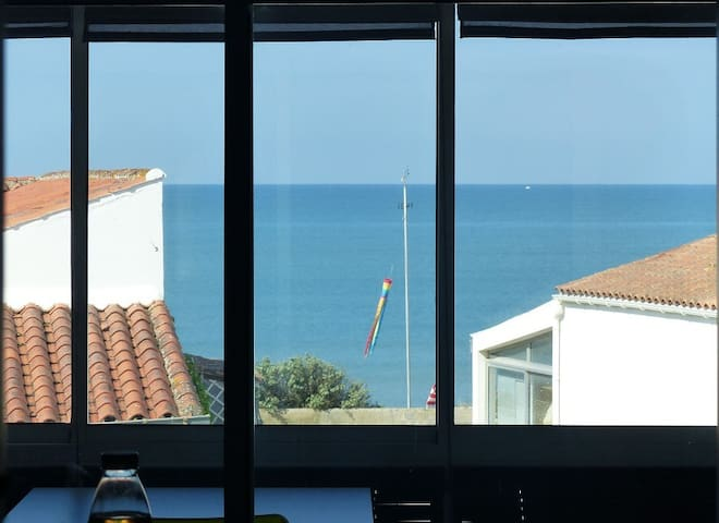 Appartement face à l'océan au pied des plages