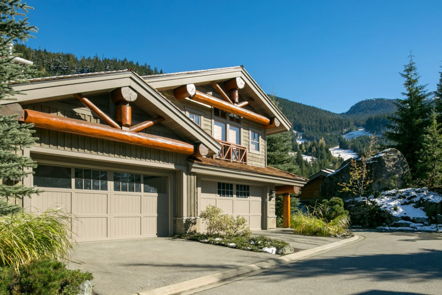Taluswood Heights. A quiet complex up on Whistler Mountain close to Creekside Gondola.  Ski in and ski out in winter, or mountain bike and hiking in summer. We are the left side one.