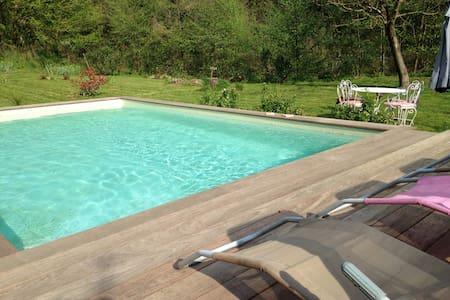 90m²,tout confort,au calme ,piscine chauffée - La Grand-Combe - 公寓