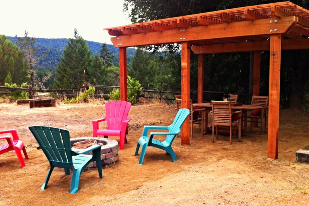 NEW! Pergola and fire pit
