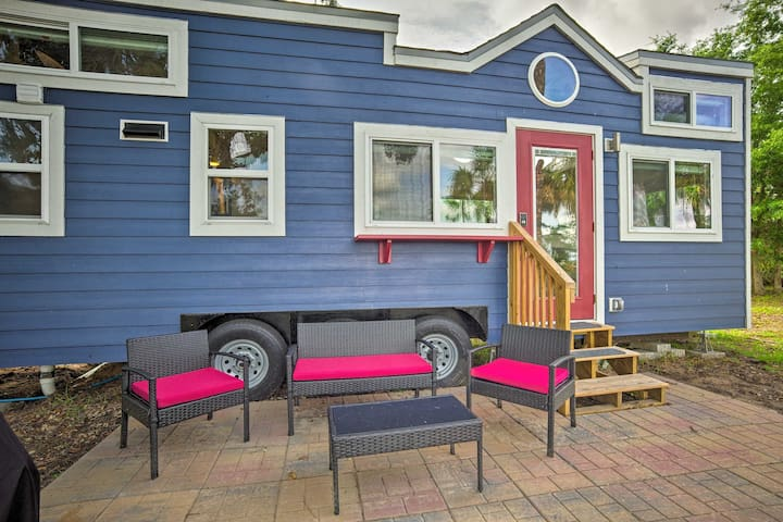 Waterfront Tiny House w/ Private Dock & Golf Cart!