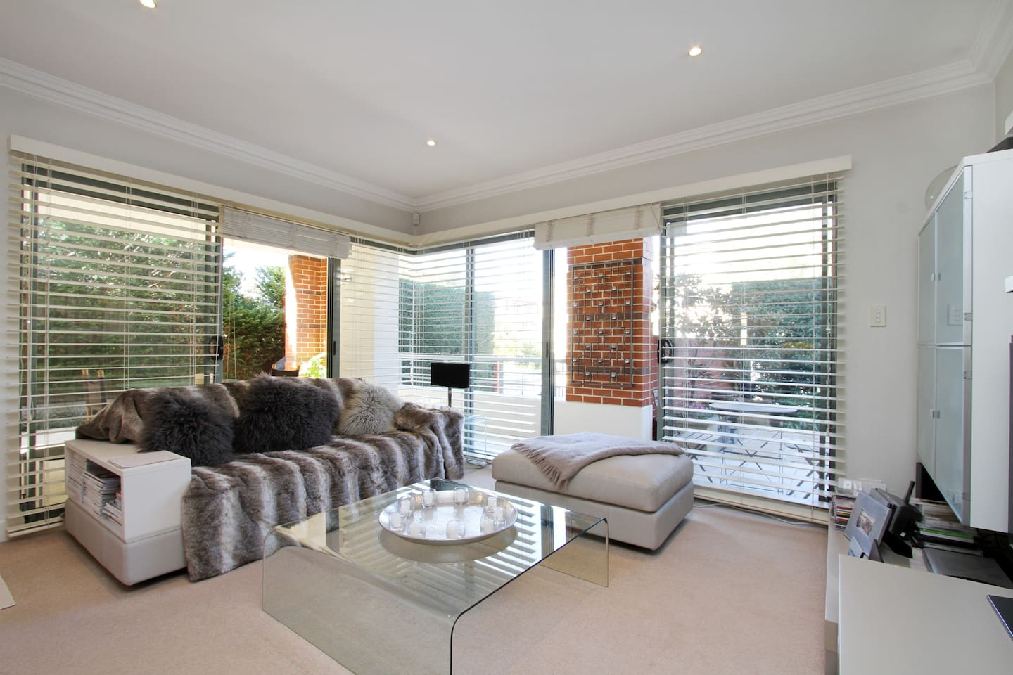 Living Area Opening to large outdoor area and Private Courtyard