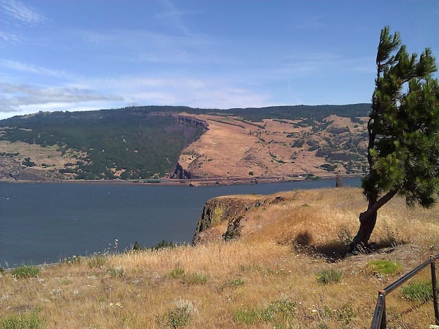 1BR, furnished rustic Mosier house - Mosier - House