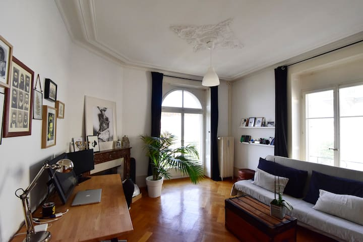 Charming and bright old style apartment in Valency