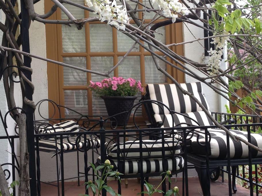 Front patio, third week of May.