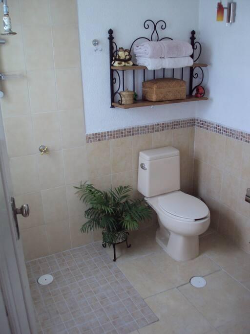 Baño Limpio Toalla incluida jabón y shampoo