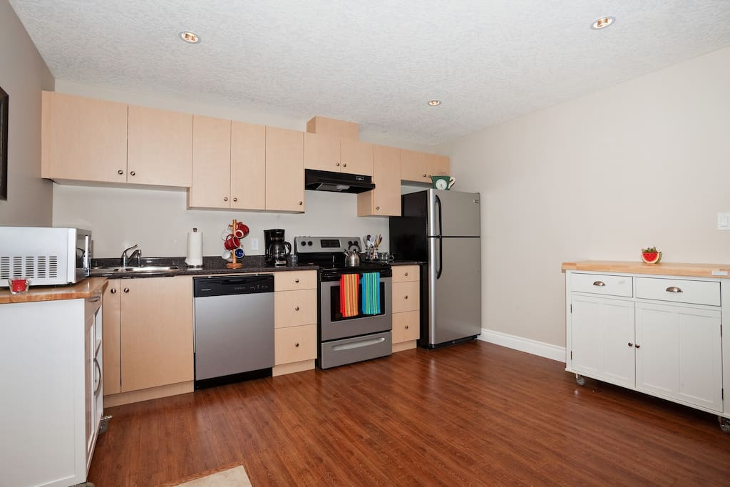 New appliances and additional moveable islands