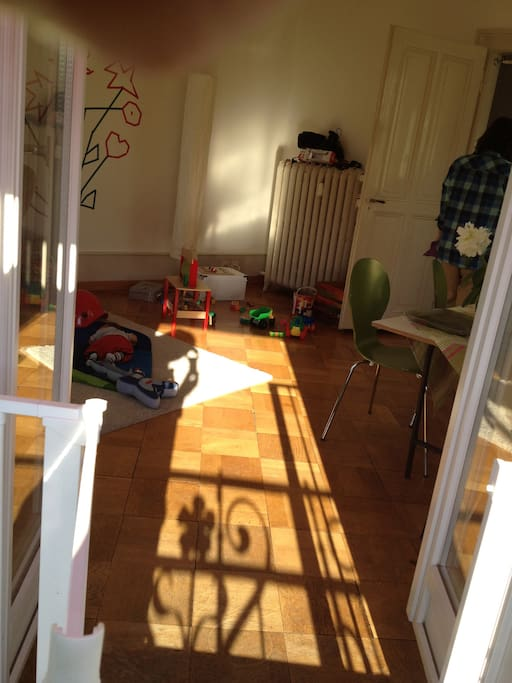 very sunny living room.