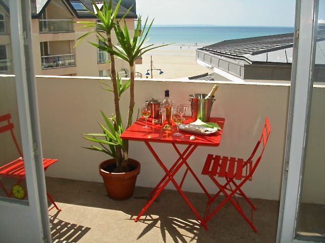Charming apartment with seaview - Pléneuf-Val-André - Lägenhet
